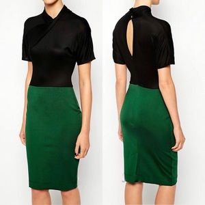 French Connection Neck Twist Keyhole Dress
